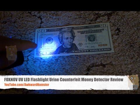 FOXNOV UV LED Flashlight Urine Counterfeit Money Detector Review