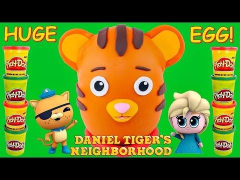 Surprise Egg Daniel Tiger's Neighborhood Giant Play Doh Eggs! Frozen Octonauts Shopkins MyLittlePony