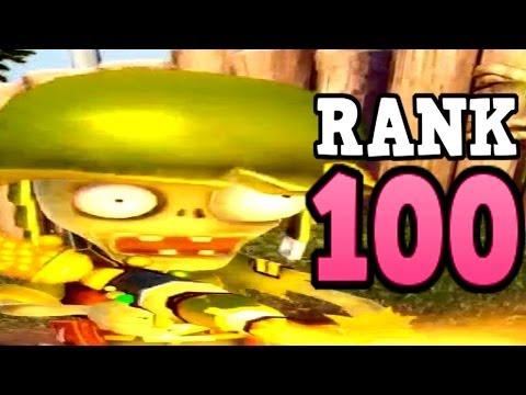Plants vs. Zombies: Garden Warfare - Rank 100