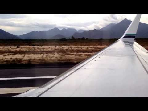 Takeoff on a Alaska Airlines 737-900 from Cabo San Lucas