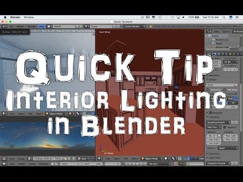 Quick Tip for Interior Lighting in Blender