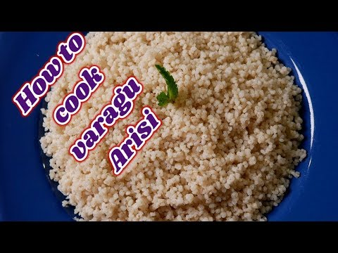 varagu arisi sadam | varagu rice sadham recipe in tamil | healthy kodo millet rice recipe