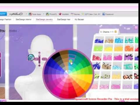 how to design a contact lenses on stardoll