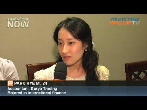 Koreans speak Singlish (Koreans finding jobs in S'pore Pt 2)