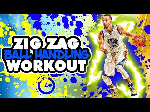 INTENSE 8 MINUTE BALL HANDLING WORKOUT! ZIG ZAG (ADVANCED)