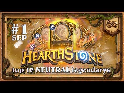 [WILD] TOP 10  BEST NEUTRAL Legendarys #1. Hearthstone Chart. (Most Popular, Powerful Cards)