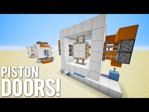 Minecraft: 3 Simple Piston Door Designs