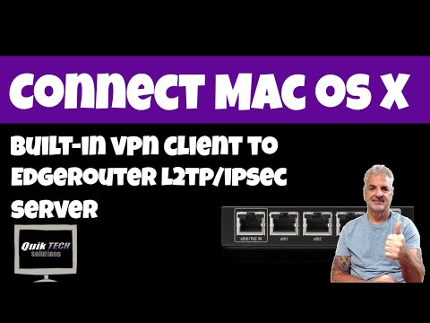 How to Connect To EdgeRouter L2TP VPN From Mac OS High Sierra