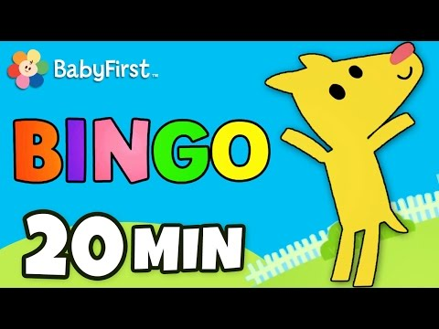 Bingo Song and Other Nursery Rhymes | Music Videos | BabyFirst TV