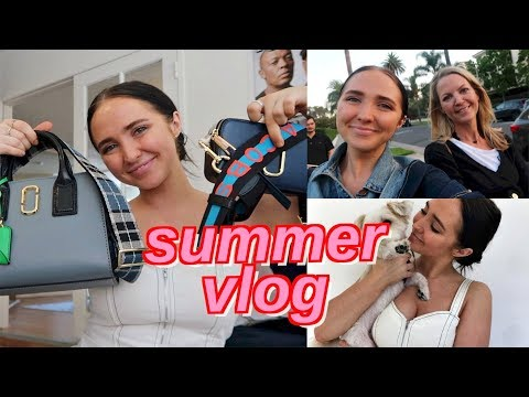 summer vlog | marc jacobs unboxing and reunited with my mom