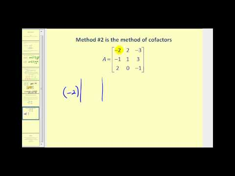 Evaluating Determinants of a 2x2 and 3x3 Matrix