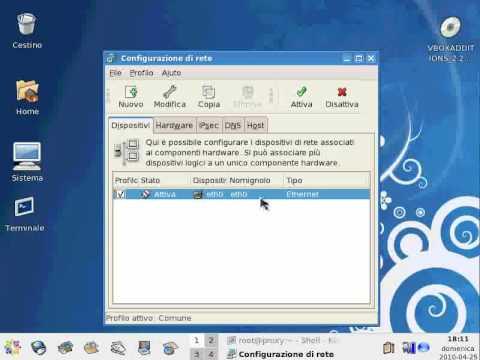 Configurazione IP su Linux CentOs