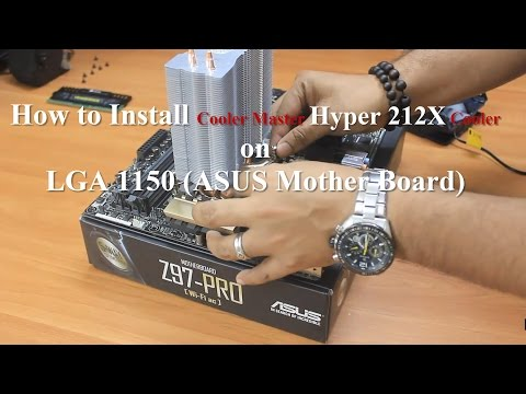 How to install Cooler Master Hyper 212X Cooler | LGA 1150 | Intel i7 4790K processor