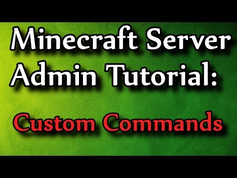 Minecraft Admin How-To: Custom Bukkit Commands