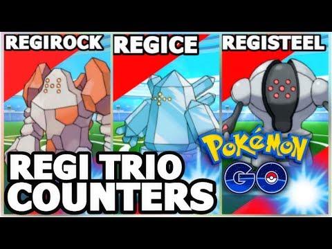 REGI TRIO IN POKEMON GO? | REGIROCK REGICE & REGISTEEL RAID COUNTERS | ARTICUNO BREAKTHROUGH