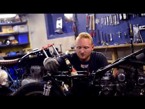 Bought new bike:  Suzuki GS400. Building a café racer? - Webisode 3