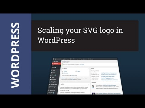 Scale your WordPress SVG logo with CSS Tutorial