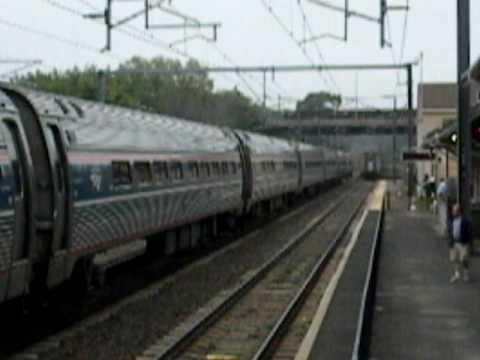 AMTRAK TRAINS MEET IN OLD SAYBROOK, CT