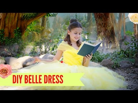 DIY Belle Beauty and the Beast Disney Costume TUTU - NO SEW