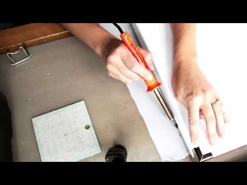 Cut and Seal Edges of Synthetic Fabrics with a Soldering Iron