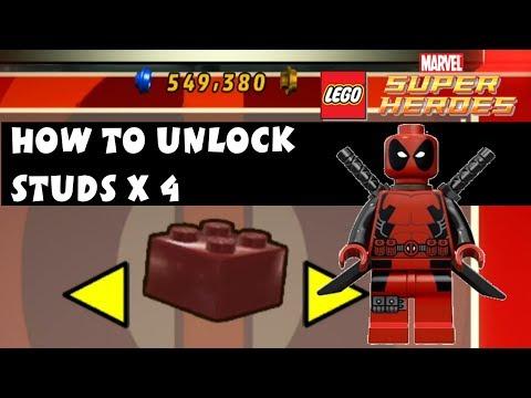 Lego Marvel Super Heroes - How to Unlock Studs X4 Deadpool Brick