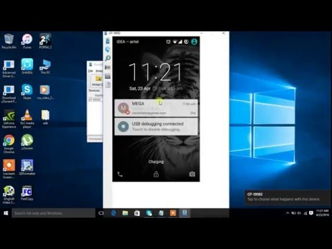 How to access damaged phone screen on pc