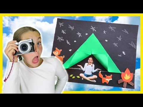 How To Make DIY Camping Tent Craft Photography For Kids Campfire Foam Paper Crafts w/ Ava