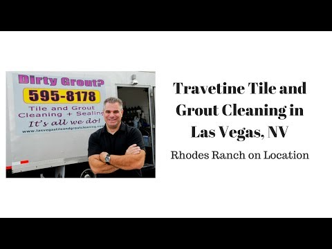Travertine Tile and Grout Cleaning in Las Vegas, NV
