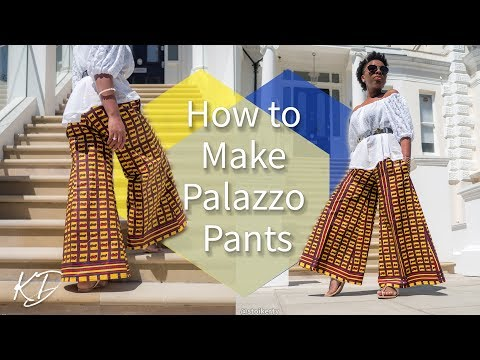 HOW TO MAKE PALAZZO PANTS | KIM DAVE