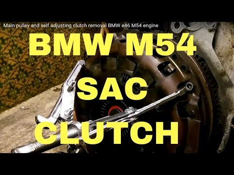 Main pulley and self adjusting clutch removal BMW e46 M54 engine