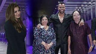 Hardik Pandya Wid Family -Father Himanshu Pandya & Mother Nalini Pandya in Mumbai
