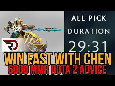 Winning games fast with Chen (6000 MMR - Replay Commentary)