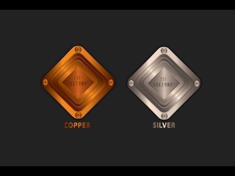 Illustrator Copper and silver button in Adobe illustrator CC  tutorial