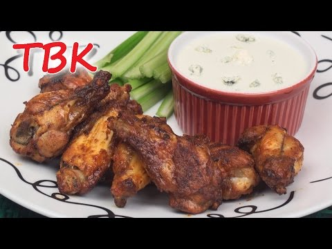 Baked Buffalo Wings Recipe with Blue Cheese Dip - Titli's Busy Kitchen
