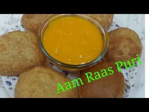 Delicious Aam raas puri recipe /How to make soft & fluffy puri.(English subtitles)
