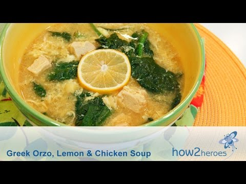 Greek Orzo Lemon & Chicken Soup