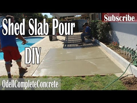 How to Pour a Shed Slab DIY! with a Salt finish