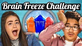 TEENS vs. SLURPEE BRAIN FREEZE CHALLENGE! | TEENS vs. FOOD