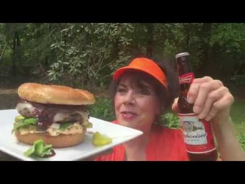 BBQ BUD & BLACKBERRY MOONSHINE SMOTHERED KOBE & DUCK BURGERS