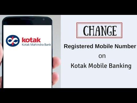 Change Kotak Bank Registered Mobile Number Through Mobile Banking