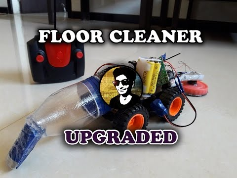How to make a floor cleaner robot (upgraded version) wireless robot remote controlled