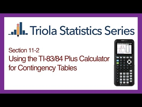 TI 83/84 Section 11-2: Using the TI-83/84 for Contingency Tables
