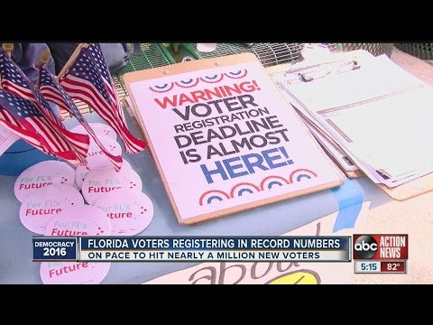 Florida voters registering in record numbers