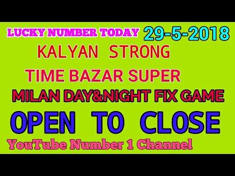 Kalyan 29/5/2018 Time bazar open to close sata matka milan day night