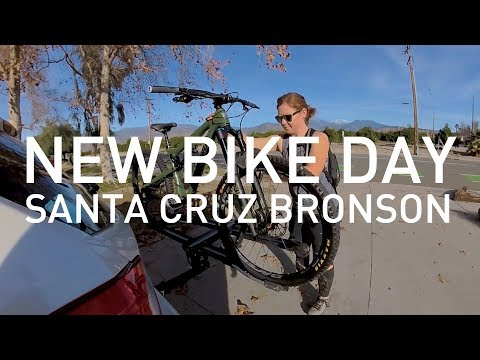 VLOG: New bike day! Kelly gets a 2018 Santa Cruz Bronson and films her first MTB ride with a Rylo!