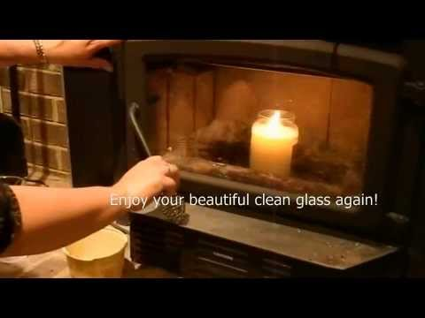 Clean Fireplace Glass with no chemicals using ashes and water