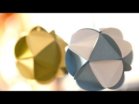 Paper Ball Ornaments