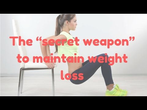 """Weight loss tips - The """"secret weapon"""" to maintain weight loss for a lifetime"""