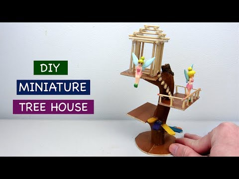 DIY Miniature Tree House for Fairy Garden #2 - Easy Craft ideas