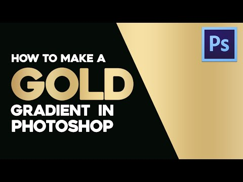 How to make a smooth gold gradient in Adobe Photoshop | By GDB